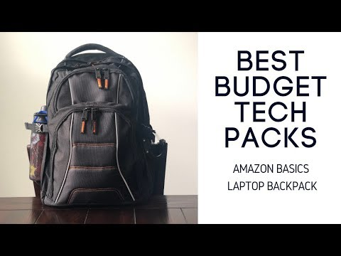 Amazon Basics Laptop Backpack Review - BUDGET Tech Backpack for College or Work
