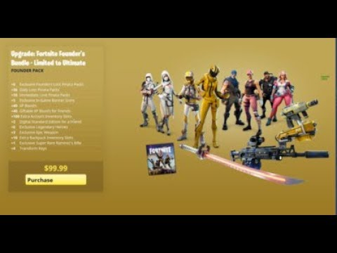 Buying ULTIMATE EDITION Founder's Pack In Fortnite Save The World(read Description)