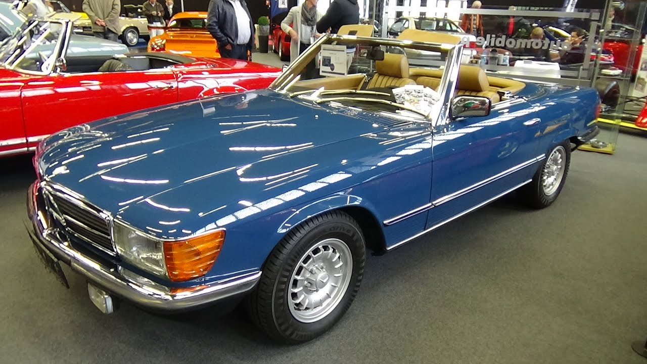 1981 mercedes benz 280 sl exterior and interior classic expo salzburg 2015 youtube. Black Bedroom Furniture Sets. Home Design Ideas