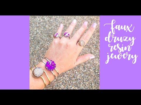 Faux Druzy Resin Glitter Rings! Quick sneak peek of next resin tutorial!