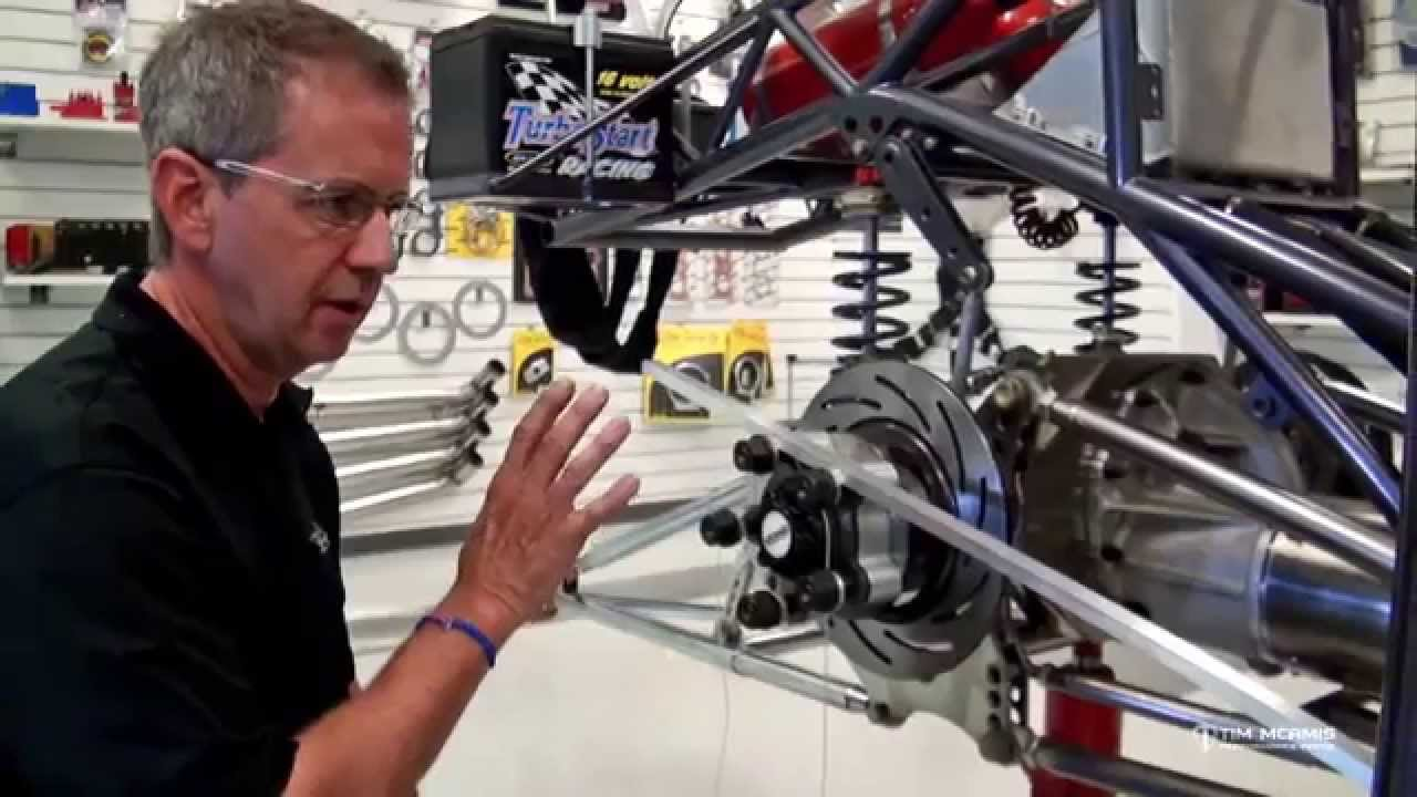 Pro Stock S10 : Rear suspension overview part end alignment