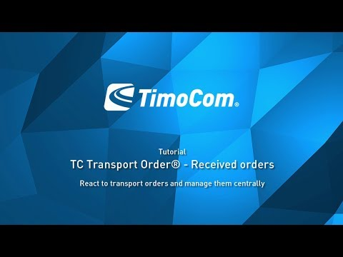 TC Transport Order®: Received orders
