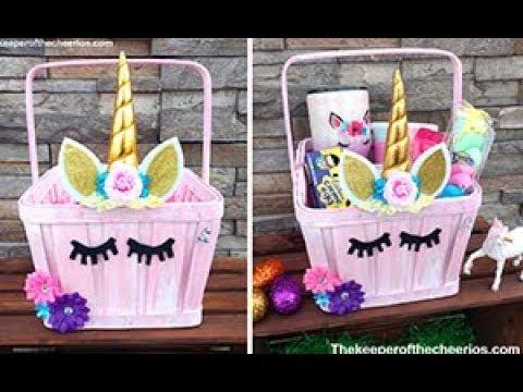 Unicorn easter basket youtube unicorn easter basket negle Image collections