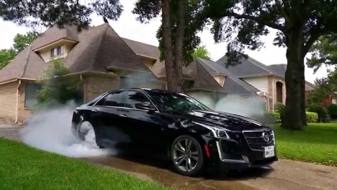 See Supercar Cadillac Cts V Burnouts Accelerations Youtube