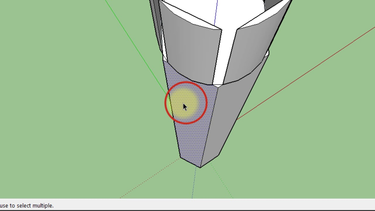 Sketchup modeling a pencil