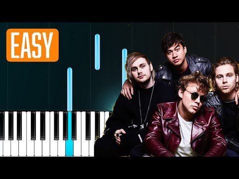 "5 Seconds Of Summer - ""Ghost Of You"" 100% EASY PIANO TUTORIAL"