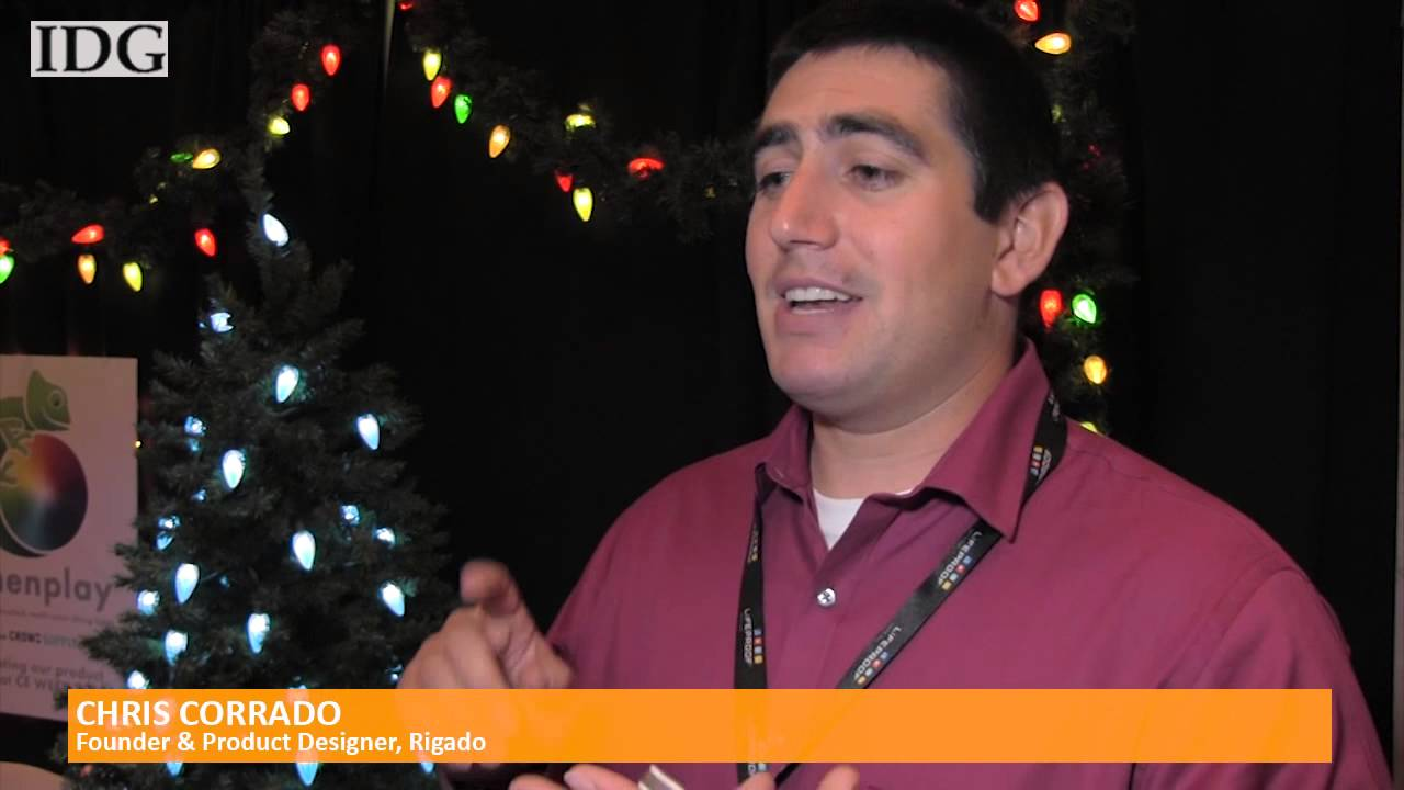 Smartphone app puts Christmas lights to year round use - YouTube