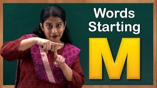 Learn Words Starting With M | Flash Cards – Words Starting With Letter M | Toddler Words With M