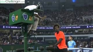 Monfils Showdown with Umpire in Match with Djokovic