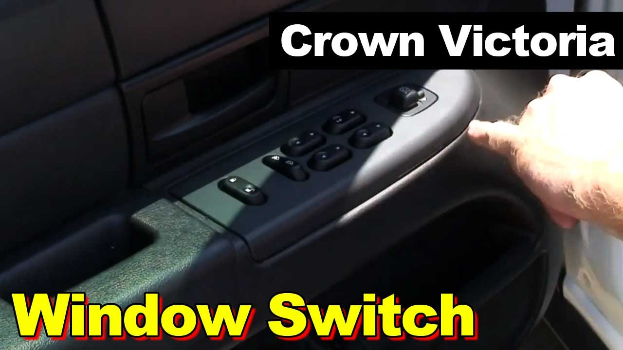 2003 2009 Ford Crown Victoria Window Switch Youtube 2008 Police Interceptor Fuse Box