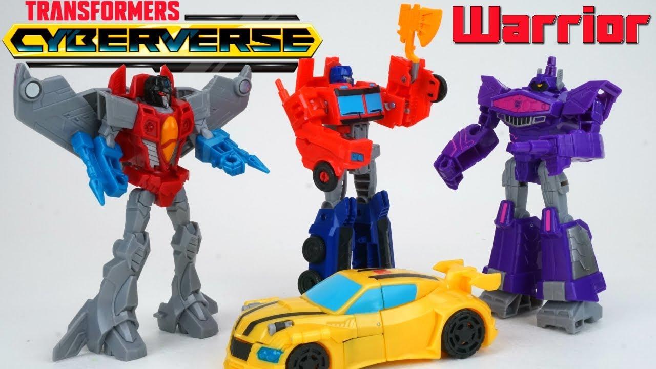 Transformers Cyberverse Warrior Class Shockwave Starscream Optimus Bee Action Attack Toys