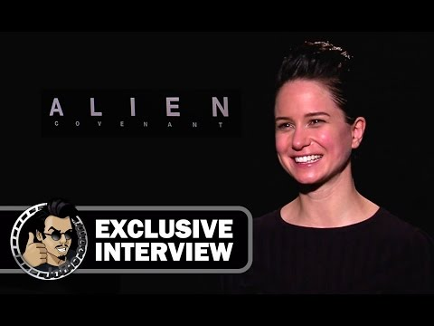 Katherine Waterston Exclusive ALIEN COVENANT Interview (2017) Ridley Scott Sci-Fi Horror