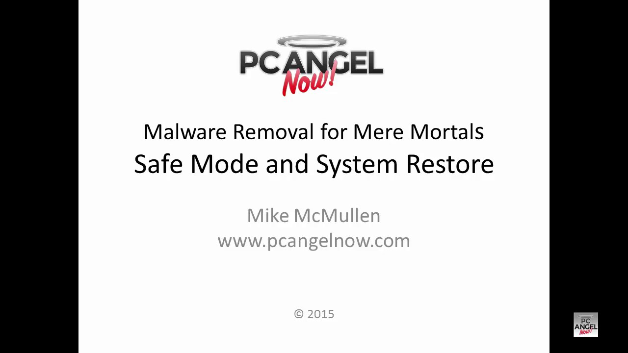 MRfMM - Safe Mode and System Restore - Win 7/Vista - PC