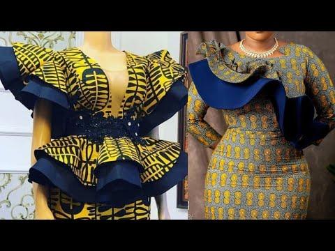 40+ AFRICAN DRESS STYLES : NEW STYLISH AND FLAWLESS African Fashion Ankara Styles for beautiful ledi