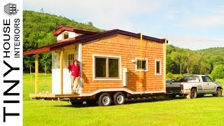 Rustic Beautiful Couple's 240 Sq. Ft. Sip Tiny House For Sale | Tiny House Interiors