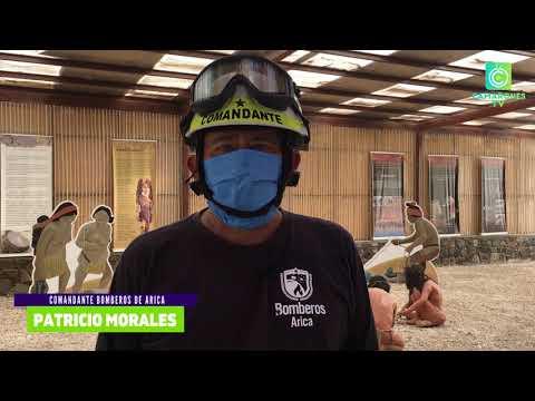 Bomberos de Arica realizó descontaminación en Camarones (01 y 02 de agosto)