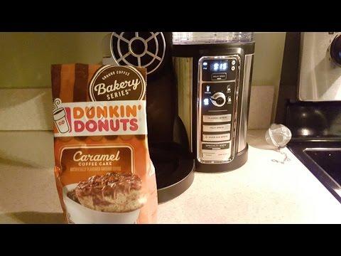Dunkin Donuts Bakery Series Carmel Coffee Cake Ninja Coffee Bar