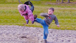 Twin Babies and Baby Siblings playing together - Funniest Home Videos
