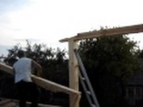 видео: Крыша. Стык стропила, бруса, балок в замок. Дедовский очень надежный способ.