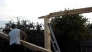 видео Соединение бруса в замок