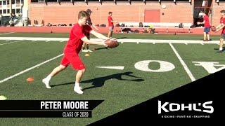 #4 Ranked Punter in America | Peter Moore | Kohl's Kicking Camps
