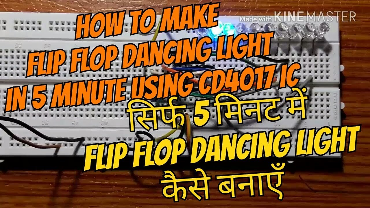 Flip Flop Light Cd4017 Led Chaser Circuit Diagram Dancing Youtube On Breadboard