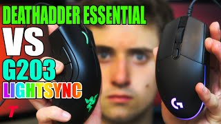 Razer Deathadder Essential vs Logitech G203 Lightsync - Obvious! (Gaming Mouse Comparison)