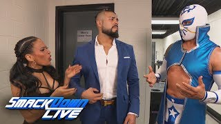 "Andrade ""Cien"" Almas blows off Sin Cara: SmackDown LIVE, May 29, 2018"