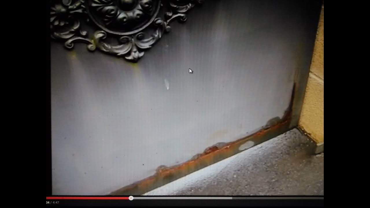 Reparar y sanear portón metálico Repair and clean metal gate - YouTube
