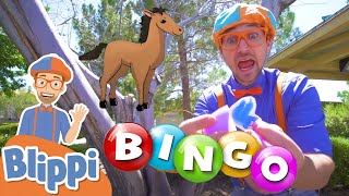 Playing BINGO With Blippi - Learning Farm Animals For Kids   Educational Videos For Kids