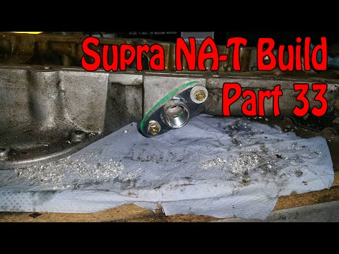 Toyota Supra NA-T Turbo Conversion - Part 33 - Turbo Oil Return
