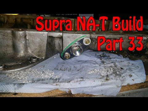 Toyota Supra NA-T Turbo Conversion - Part 33 - Turbo Oil Return
