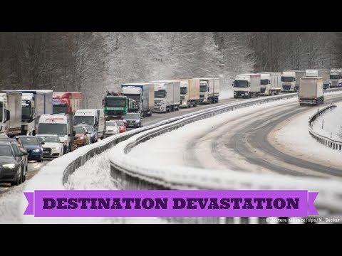 Heavy snowfall, hurricane force winds cause traffic chaos! Slovenia and Croatia .