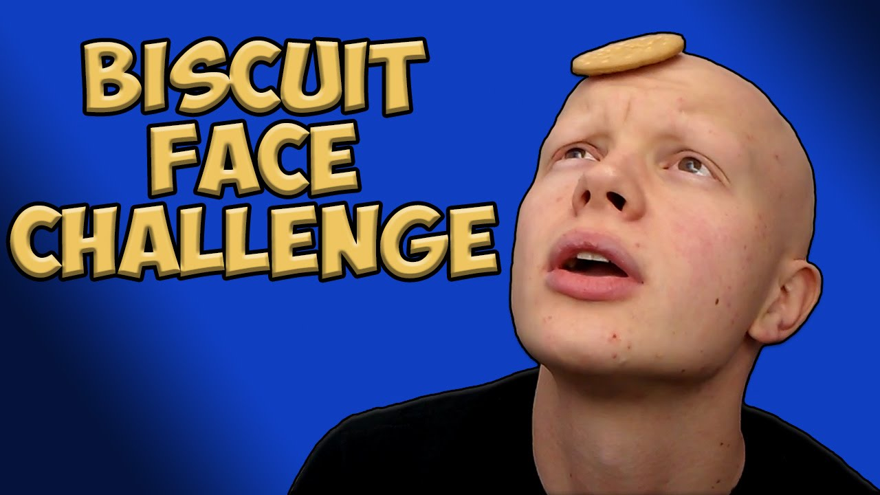 Biscuit Face Challenge - Crumbs In My Eye !!! - YouTube