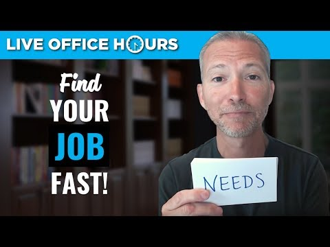 How to Find a Job Fast!