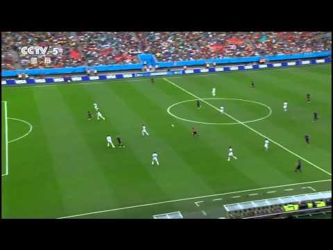 14世界杯 荷兰vs西班牙 飞翔的荷兰人 范佩西惊世头球