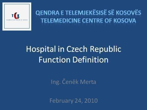 Hospital in Czech Republic Function Definition