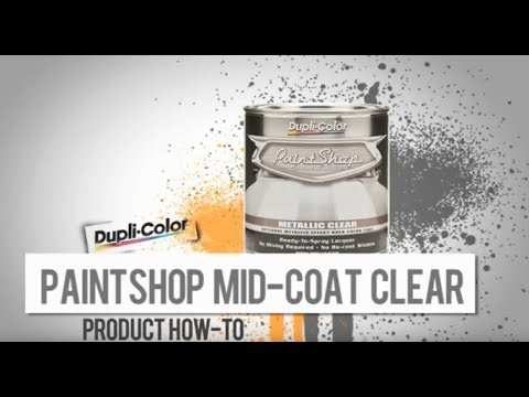 Dupli-Color® How To: Paint Shop Metallic Clear - YouTube