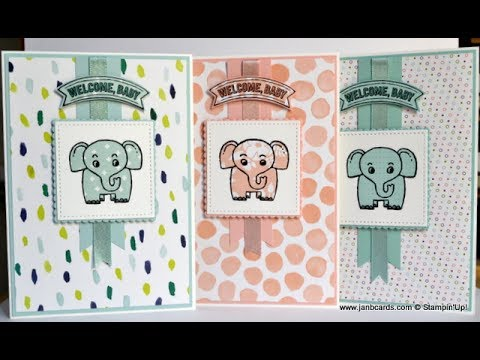 No.290 - A Little Wild Baby Card - JanB UK Stampin' Up! Demonstrator Independent