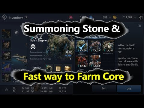 Lineage 2 Revolution Summoning Stone & Fast Way to Farm Monster Core