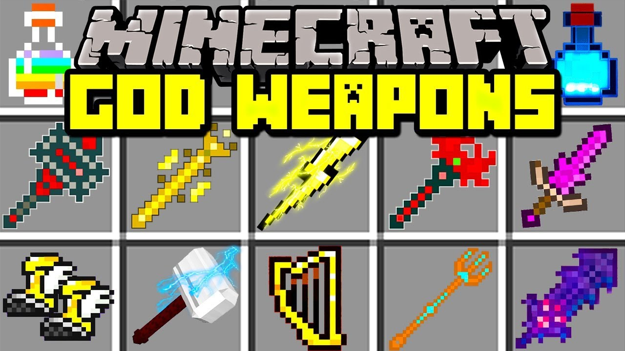 Minecraft GOD WEAPONS MOD! | CRAFT OVERPOWERED GOD SWORDS ...