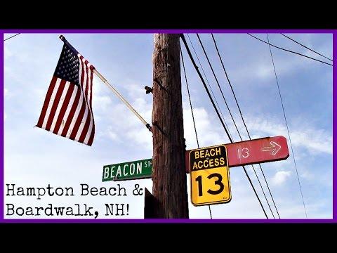 New England Travel Vlogs! Day 2   Hampton Beach & Boardwalk, New Hampshire!