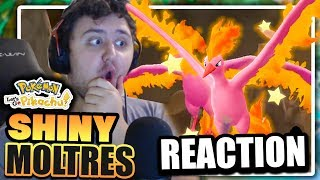 AWESOME SHINY MOLTRES LEGENDARY REACTION! Pokemon Let's Go Pikachu & Let's Go Eevee Reaction!?