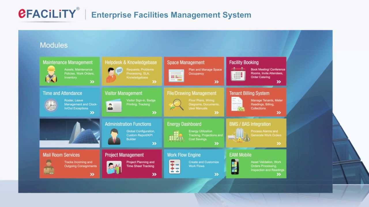 Efacility 174 Enterprise Facilities Management Software
