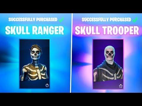 New SKULL TROOPER + SKULL RANGER SKIN Gameplay in Fortnite! (New Fortnite SKULL SICKLE Pickaxe)