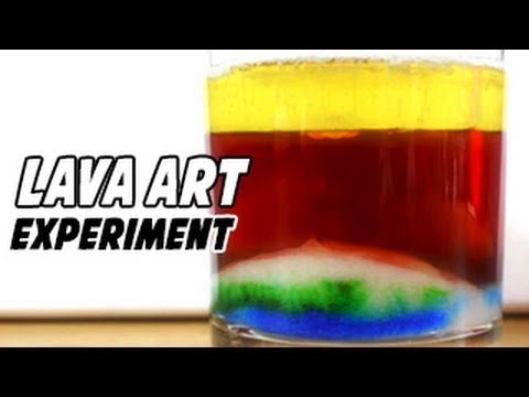How To Make Lava Art At Home
