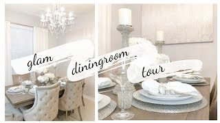DINING ROOM TOUR! DECORATE WITH ME!