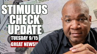 Great News!! Second Stimulus Check Update Tuesday 9/15   New Stimulus Package Proposal Details