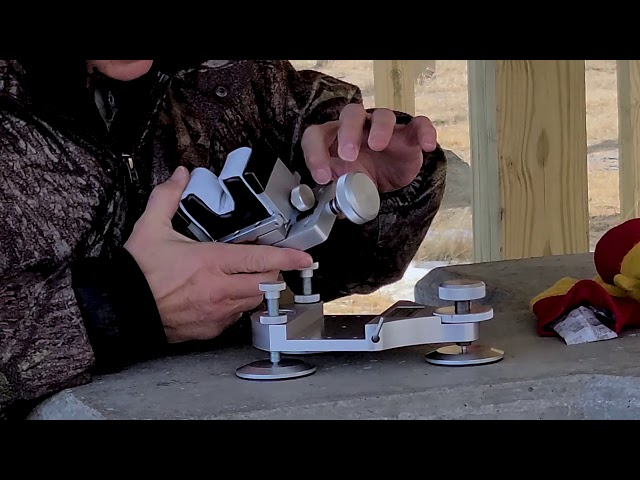 Demonstration: Model 9 Mini Rear Rifle Rest by TargetShooting.com