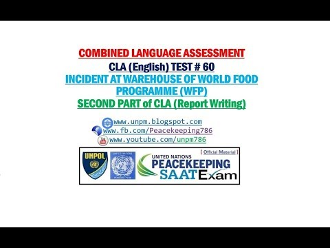 United Nations Peacekeeping Missions: CLA TEST # 60 Incident at